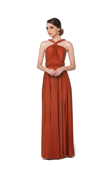 Maxi Convertible Dress - Rust