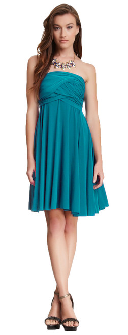 Short Convertible Dress - Teal