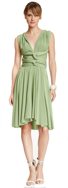 Short Convertible Dress - Sage