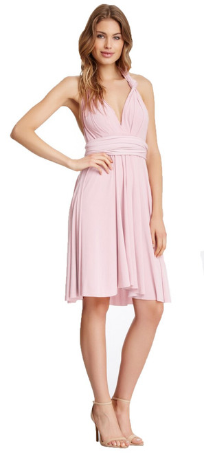 Short Convertible Dress - Powder Pink