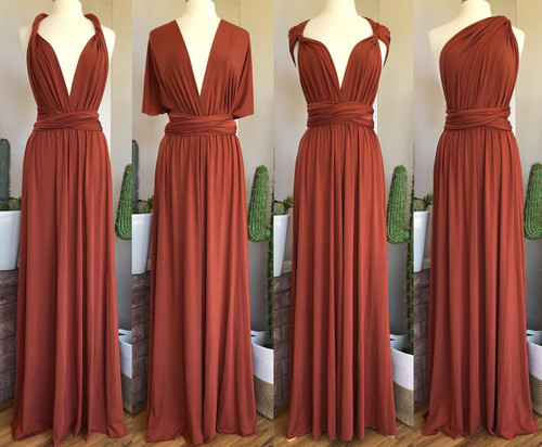 Maxi Convertible Dress - Terracotta