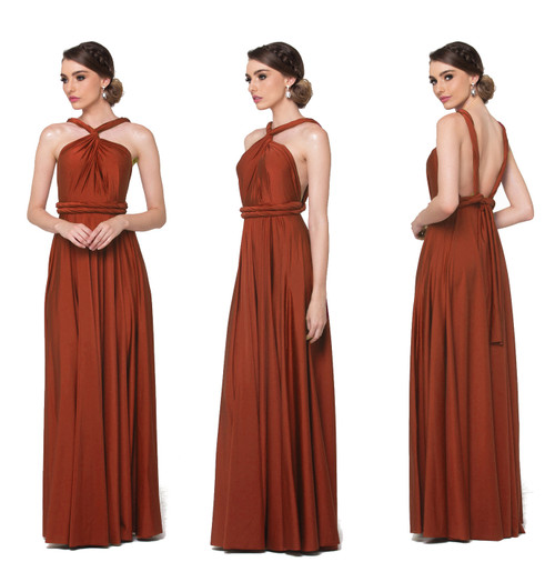 Maxi Convertible Dress - Terracotta