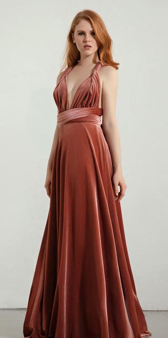 Lux Velvet - Maxi Convertible Dress