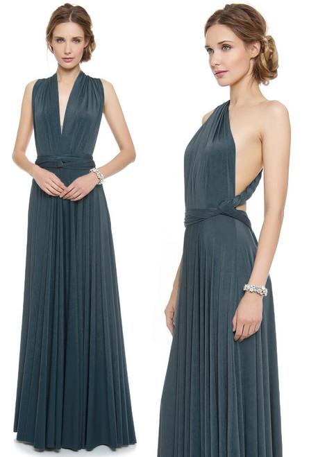 Maxi Convertible Dress - Dusk Blue