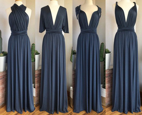 Maxi Convertible Dress - Dusk Blue
