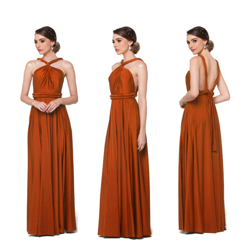 Maxi Convertible Dress - Burnt Orange