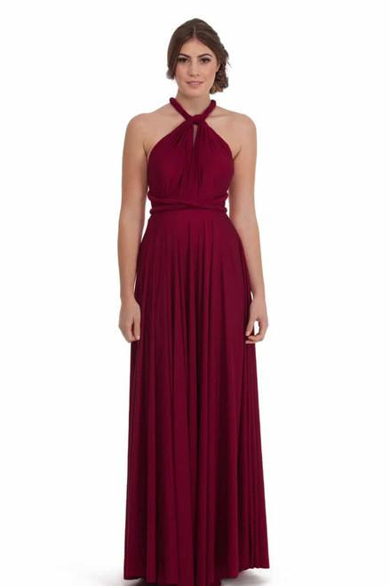 Maxi Convertible Dress - Merlot