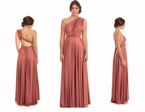 Maxi Convertible Dress - Clay