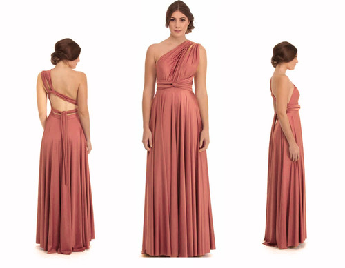 Maxi Convertible Dress - Clay