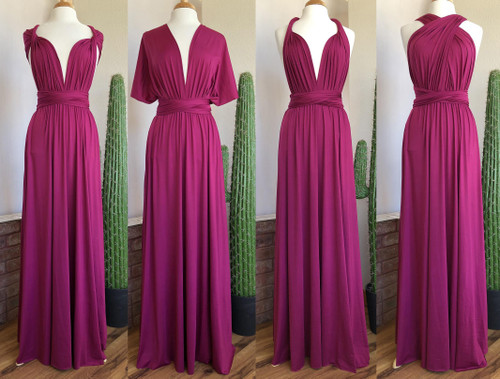 Maxi Convertible Dress - Magenta