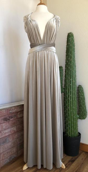 Velvet convertible Dress - Silver