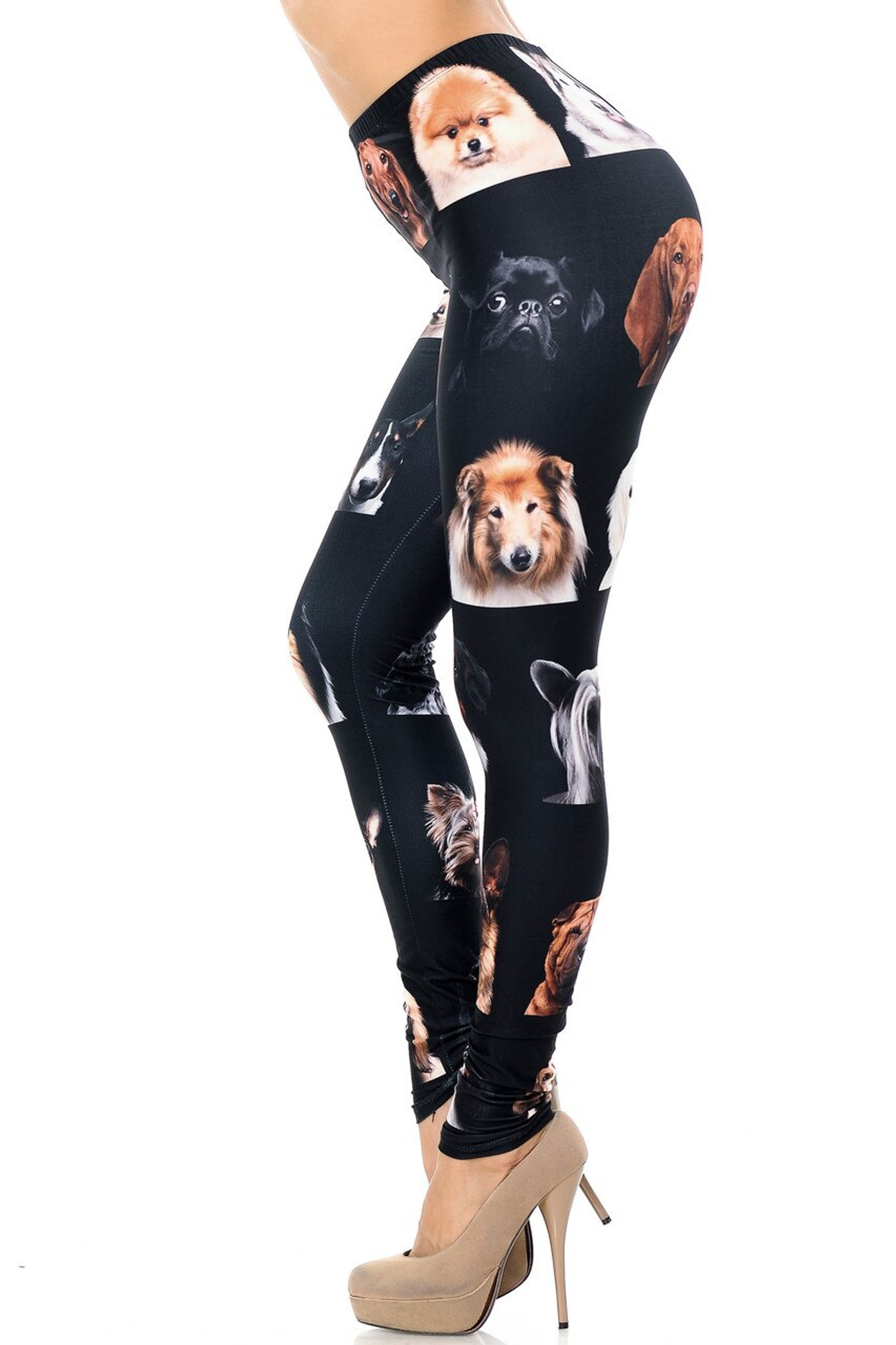 Creamy Soft Cute Puppy Dog Faces Leggings - Version 2 - USA Fashion™