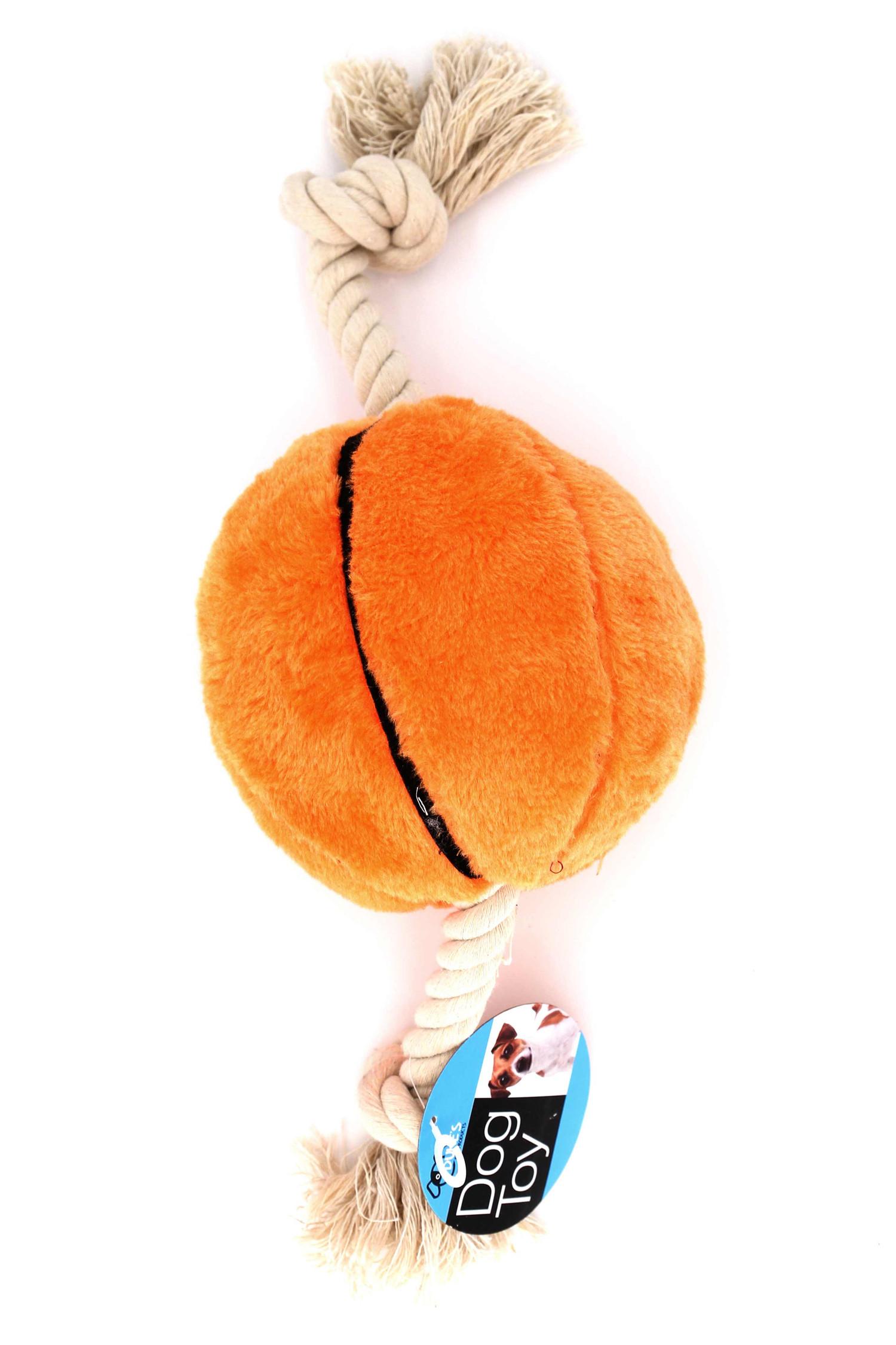 Plush Sports Basketball Rope Dog Toy
