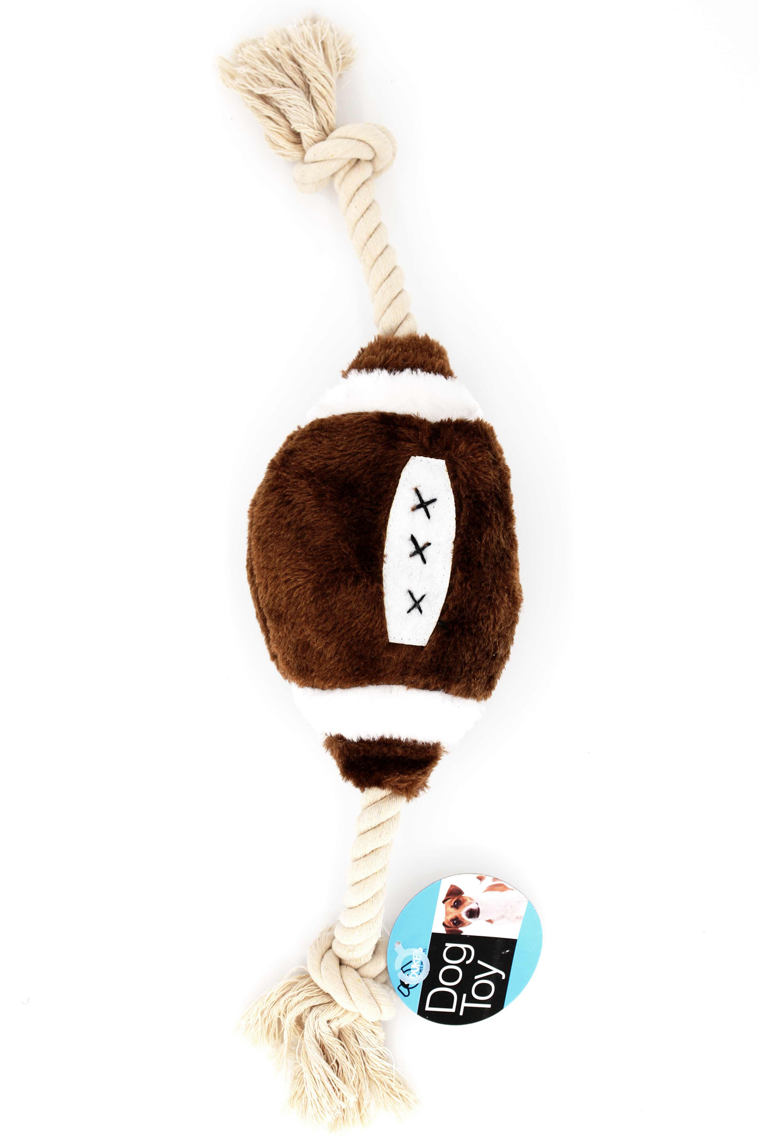 Plush Sports Football Rope Dog Toy