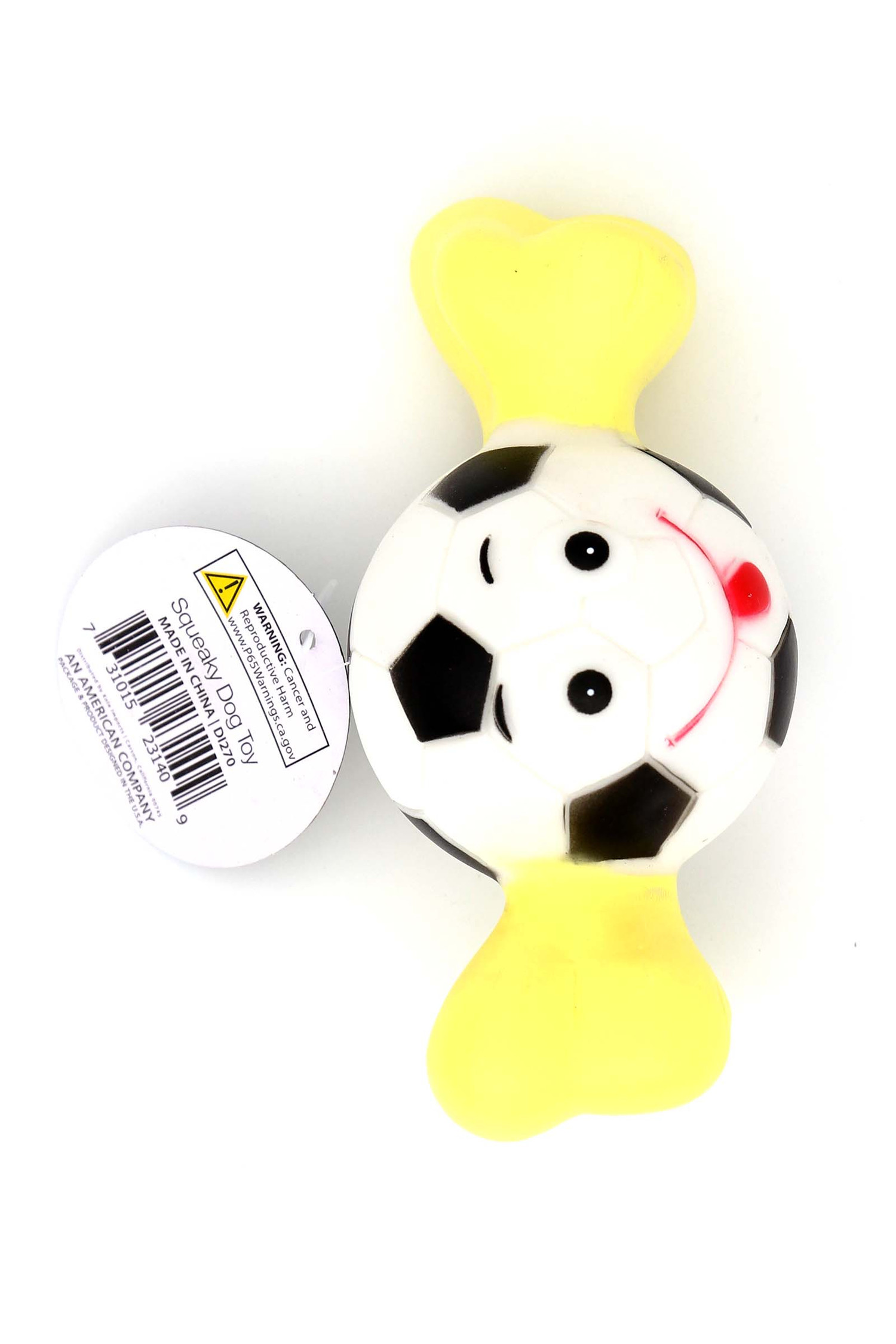 Bone with Sports Ball Squeaky Dog Toy