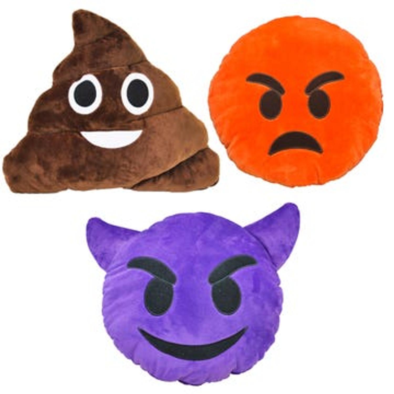 Plush Emoji Dog Toy - 10 Styles