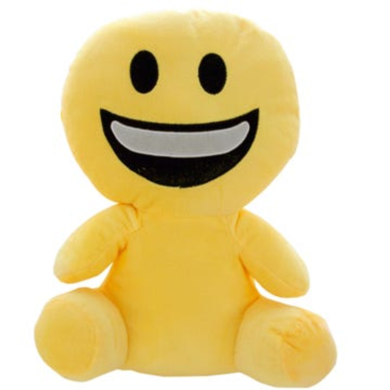 Plush Emoji Doll Dog Toy - Multiple Styles