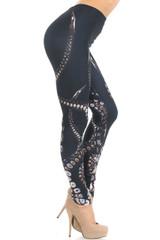 Creamy Soft Tentacle Extra Small Leggings - USA Fashion™