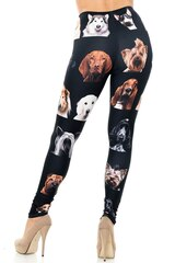 Creamy Soft Cute Puppy Dog Faces Leggings - Version 2 - USA Fashion™