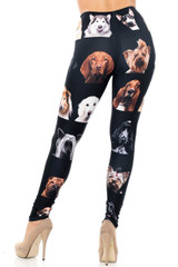 Creamy Soft Cute Puppy Dog Faces Extra Plus Size Leggings - 3X-5X - Version 2 - USA Fashion™