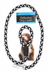 4 Foot Black Reflective Dog Leash