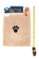 Extra Absorbent Large Dog Drying Towel with Paw Print
