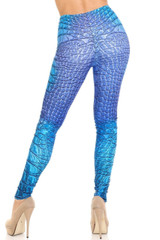 Creamy Soft Vibrant Blue Dragon Extra Plus Size Leggings - 3X-5X - By USA Fashion™