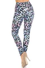 Creamy Soft Chromatic Leopard Extra Plus Size Leggings - 3X-5X - By USA Fashion™