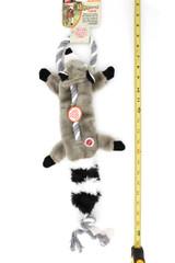 Spot Skinneeez Raccoon on a Rope Tug Dog Toy