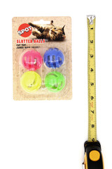 Spot Slotted Ball Cat Toys with Bell