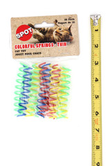 Spot Thin and Colorful Spring Cat Toys - 10 Pack