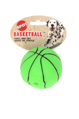 Spot Vinyl Basketball Squeaky Dog Toy - Assorted Colors