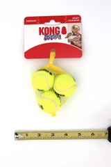 Kong Squeak Air Tennis Ball Dog Toys - 3 Pack - Multiple Sizes