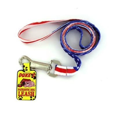 """American Flag Dog Leash - 47"""""""