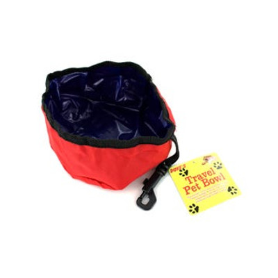 Foldable Pet Travel Bowl with Clip