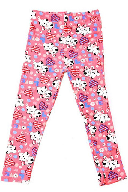 Buttery Soft Pink Puppy Dogs Kids Leggings