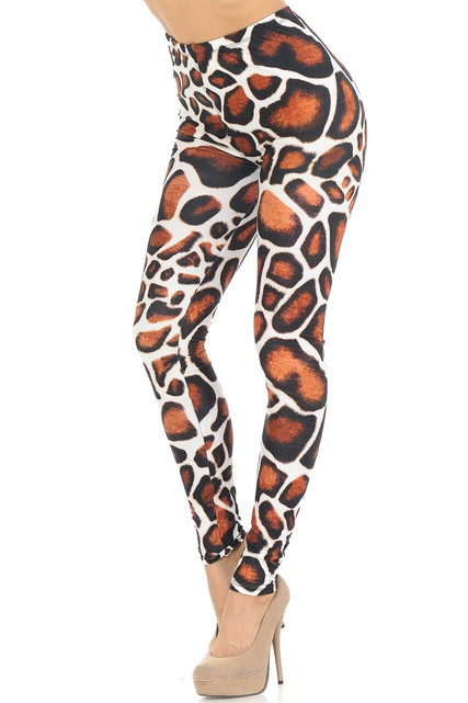 Creamy Soft Giraffe Print Leggings - USA Fashion™
