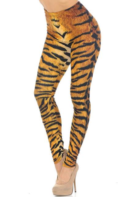 Creamy Soft Tiger Print Leggings - USA Fashion™
