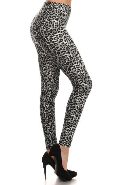 Buttery Soft Snow Leopard Leggings
