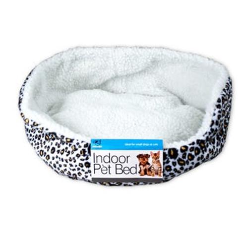 Fleece Lined Indoor Pet Bed for Dog or Cat