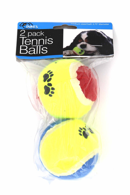 Medium Size Fetch Tennis Balls for Dogs - 2 Pack
