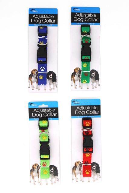 Nylon Paw Print Dog Collar