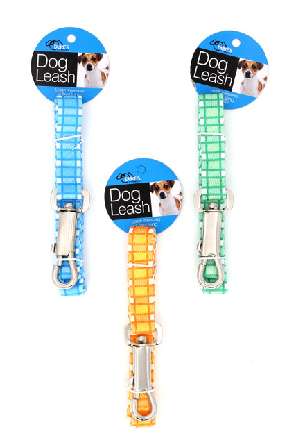 Colorful Plaid Dog Leash - 4 Feet