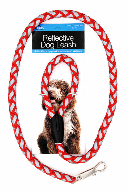 4 Foot Red Reflective Dog Leash