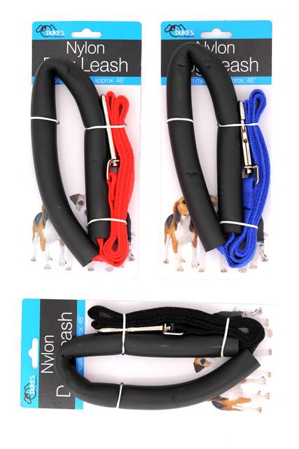 "Nylon Dog Leash with Comfort Handle - 41"""