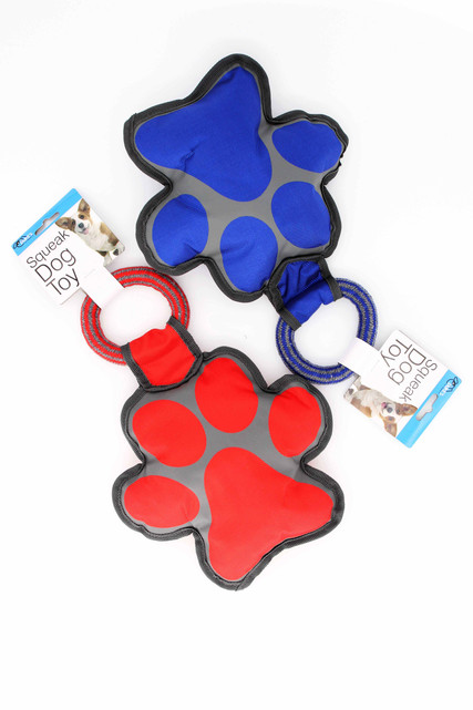 Paw Print Squeaky Dog Toy