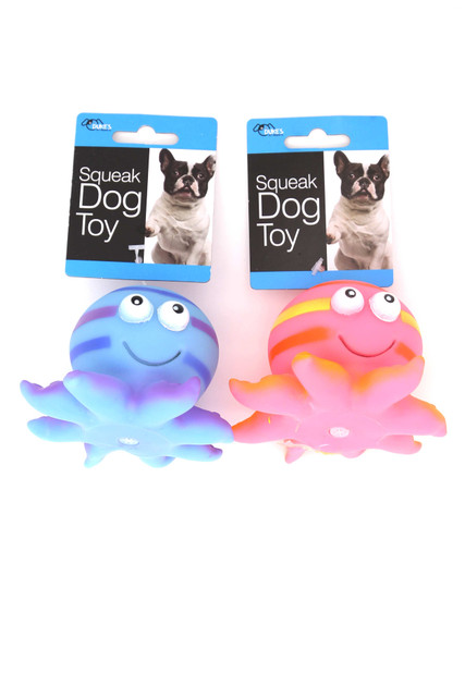 Octopus Rubber Squeaky Dog Toy