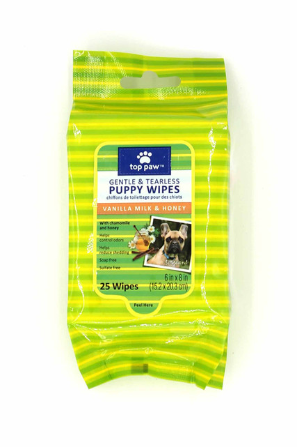 Gentle Puppy Dog Cleansing Wipes - 25 Pack