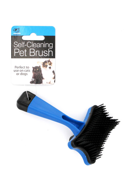 Pet Grooming Brush with Self-Cleaning Function