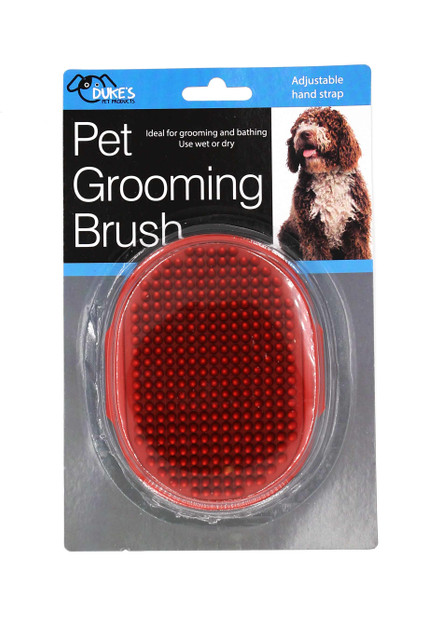 Wet or Dry Pet Brush with Adjustable Hand Strap